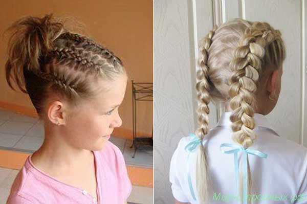 Косички на детские короткие волосы видео